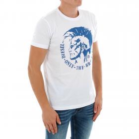 DIESEL Camiseta Blanco 00CWCS-00JTS 100