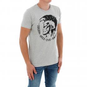 DIESEL Camiseta Gris claro 00CWCS-00JTS 912