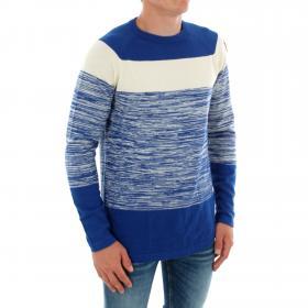 G-STAR Jersey Azul CORE STRAIGHT STRIPE HUDSON BLUE IVORY