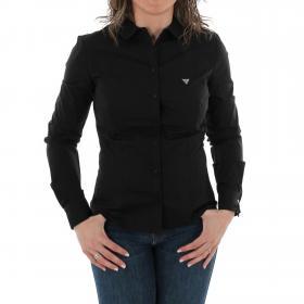 GUESS Camisa Negro W83H26WA4J0 JBLK