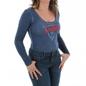 GUESS Camiseta Azul W83I77K1D80 INMU