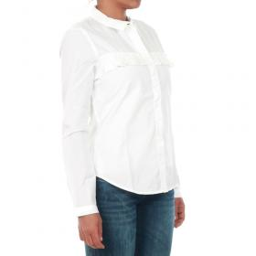 Jacqueline de Yong Camisa Blanco