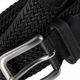 Jack&Jones Cinturón Negro 12118114 JACSPRING WOVEN BELT NOOS BLACK