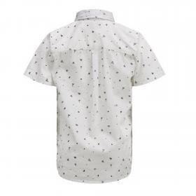 Jack&Jones Camisa Blanco 12152960 PKTDEK BEACH AOP SHIRT SS CLOUD DANCER
