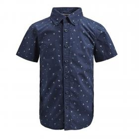 Jack&Jones Camisa Azul marino 12152960 PKTDEK BEACH AOP SHIRT SS DARK DENIM