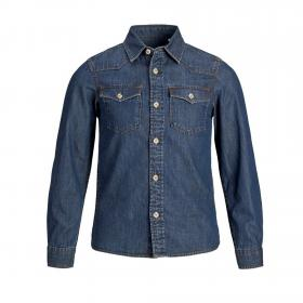 Jack&Jones Camisa Azul oscuro 12147659 PKTDEK NEXT WESTERN SHIRT LS JUNIOR DARK BLUE DENIM