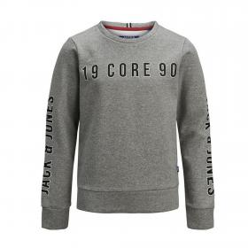 Jack&Jones Sudadera Gris 12149348 JCOVIKTOR SWEAT CREW NECK LIGHT GREY MELANGE