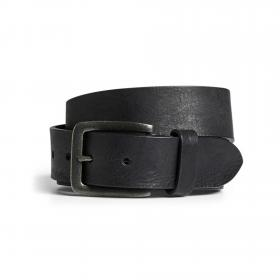 Jack&Jones Cinturón Negro 12152757 JACVICTOR LEATHER BELT NOOS BLACK