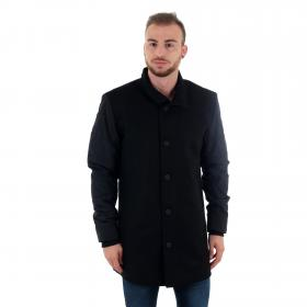 Jack & Jones Abrigo Negro 12157681 JCOURBAN WOOL JACKET BLACK