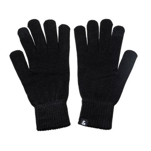 Jack&Jones Guantes Negro 12159459 JACBARRY KNITTED GLOVES NOOS BLACK