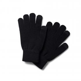 Jack&Jones Guantes Negro 12160358 JACHENRY KNIT GLOVES JR BLACK