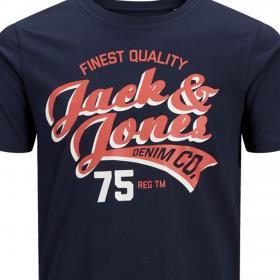 Jack&Jones Camiseta Azul marino 12152909 JJELOGO TEE SS CREW NECK 2 COL SS19 PS NAVY BLAZER