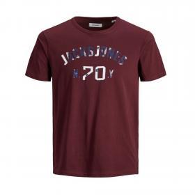 Jack&Jones Camiseta Burdeos 12172964 JJSETH SS TEE CREW NECK KA JR PORT ROYALE