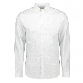 Jack&Jones Camisa Blanco 12169911 JPRLALOGO STRETCH AOP SHIRT LS WHITE