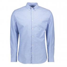 Jack&Jones Camisa Azul claro 12169911 JPRLALOGO STRETCH AOP SHIRT LS CASHMERE BLUE