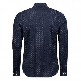 Jack&Jones Camisa Azul marino 12169911 JPRLALOGO STRETCH AOP SHIRT LS NAVY BLAZER