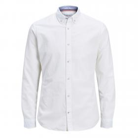 Jack&Jones Camisa Blanco 12163855 JJESUMMER SHIRT LS S20 STS WHITE SLIM