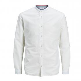 Jack&Jones Camisa Blanco 12163856 JJESUMMER BAND SHIRT LS S20 STS WHITE SLIM