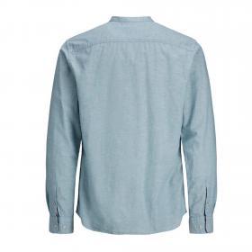 Jack&Jones Camisa Verde claro 12163856 JJESUMMER BAND SHIRT LS S20 STS VERDANT GREEN SLIM