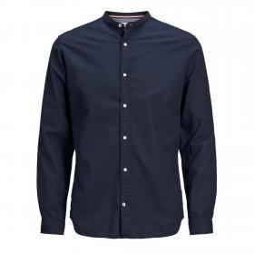 Jack&Jones Camisa Azul marino 12163856 JJESUMMER BAND SHIRT LS S20 STS NAVY BLAZER SLIM