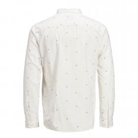 Jack & Jones Camisa slim Blanco 12166672 JCOCARLO SHIRT LS WHITE SLIM