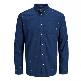 Jack & Jones Camisa slim Azul 12166672 JCOCARLO SHIRT LS NAVY PEONY SLIM