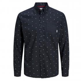 Jack & Jones Camisa slim Azul marino 12166672 JCOCARLO SHIRT LS SKY CAPTAIN SLIM