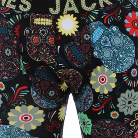 Jack&Jones Pantalón Negro 12166722 JACSUGAR SKULL LONG JOHN LIMELIGHT