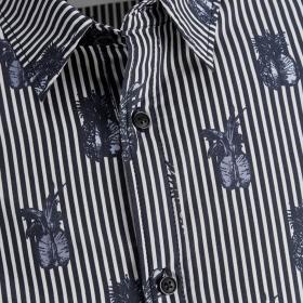 Jack & Jones Camisa regular Azul marino 12167481 JORFUN LS AOP SHIRT KTF NAVY BLAZER REG