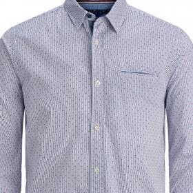Jack & Jones Camisa Azul 12168254 JORDYLAN SHIRT LS PS ENSIGN BLUE