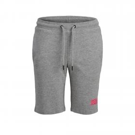 JACK&JONES Bermuda Gris claro 12173262 JJIBOB JJSWEAT SHORTS IMP JR LIGHT GREY MELANGE