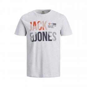 Jack & Jones Camiseta Gris 12172329 JCOFOKE TEE SS CREW NECK FST JR WHITE MELANGE