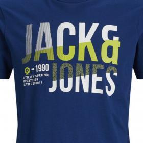 Jack & Jones Camiseta Azul 12172329 JCOFOKE TEE SS CREW NECK FST JR NAVY PEONY