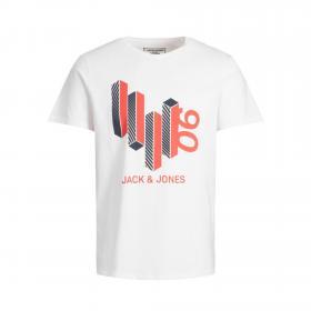 Jack & Jones Camiseta Blanco 12177793 JCOBOOSTER TEE SS CREW NECK MAR 20 JR WHITE