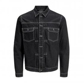 JACK&JONES Cazadora Negro 12169080 JJIWILLIAM JJJACKET AM 985 BLACK DENIM