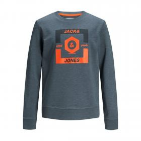 JACK&JONES Sudadera Azul 12167674 JCOSTRONG SWEAT CREW JR CHINA BLUE