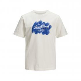Jack & Jones Camiseta Blanco 12172450 JORTORINO TEE SS CREW NECK JR CLOUD DANCER