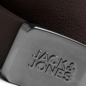 JACK&JONES Cinturón Marrón 12172262 JACMILES BELT BLACK COFFEE