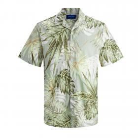 JACK&JONES Camisa Verde 12170478 JORMARTY ORGANIC SHIRT SS GREEN MILIEU