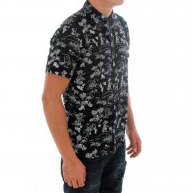 JACK&JONES Camisa Negro 12171168 PKTDEK CONVERSTIONAL SHIRT SS DARK NAVY