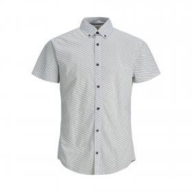 JACK&JONES Camisa Blanco 12171173 PKTDEK MICRO SHIRT SS WHITE