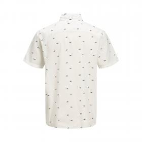 JACK&JONES Camisa slim Blanco 12170482 JORLASSE SHIRT SS CLOUD DANCER
