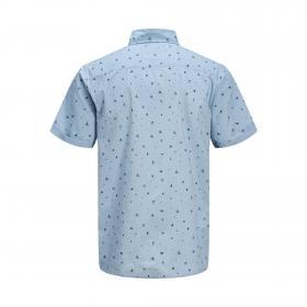 JACK&JONES Camisa slim Azul claro 12170482 JORLASSE SHIRT SS ASHLEY BLUE
