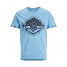 JACK&JONES Camiseta Azul claro 12171680 JCOUNIVERSE TEE SS CREW NECK JR DUSK BLUE