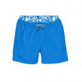 JACK&JONES Bañador Azul 12169635 JJIARUBA JJSWIMSHORTS AKM DB WD SOLID FRENCH BLUE
