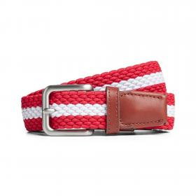 JACK&JONES Cinturón Rojo 12118114 JACSPRING WOVEN BELT NOOS STRIPE CHINESE RED