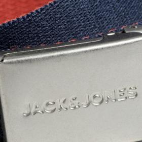 JACK&JONES Cinturón Negro 12172218 JACKYLE WOVEN BELT BLACK