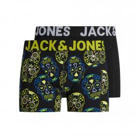 JACK&JONES Boxer Negro 12174882 JACCALAVERA TRUNK 2 PACK MULTICOLOR