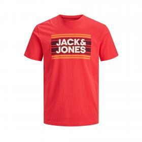 JACK&JONES Camiseta slim Rojo 12171741 JCOSIGN TEE SS CREW NECK JR Bittersweet