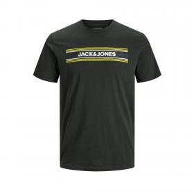 JACK&JONES Camiseta slim Negro 12171741 JCOSIGN TEE SS CREW NECK JR PIRATE BLACK